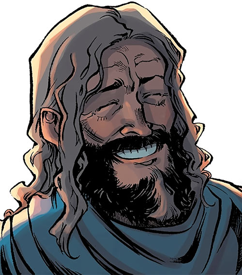 Ser Aaron Hawthorne (Dragon Age: Knight Errant comic) laughing
