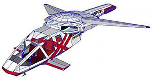 Futurist aircraft from the movie The Sixth Day