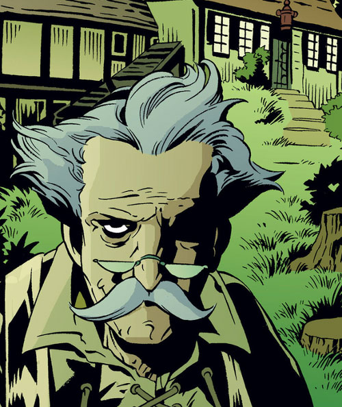 The Adversary (Geppetto from Fables) outside of his house