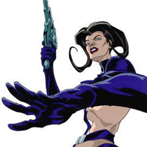 Aeon Flux (MTV animated) with her pistol