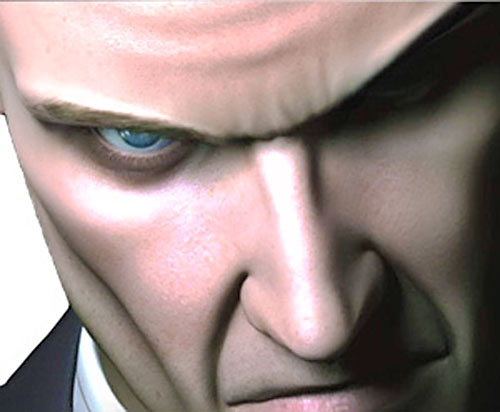 Agent 47 (Hitman) eyes closeup