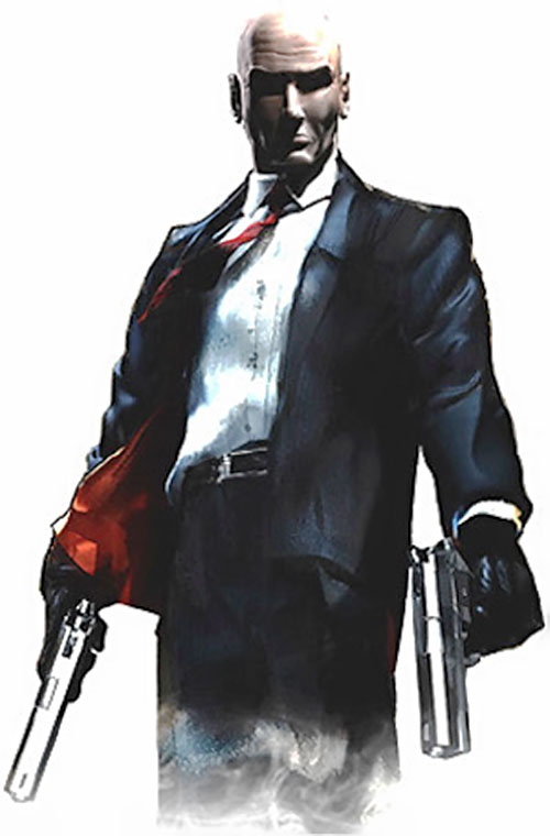 Agent 47 (Hitman) dual wielding pistols