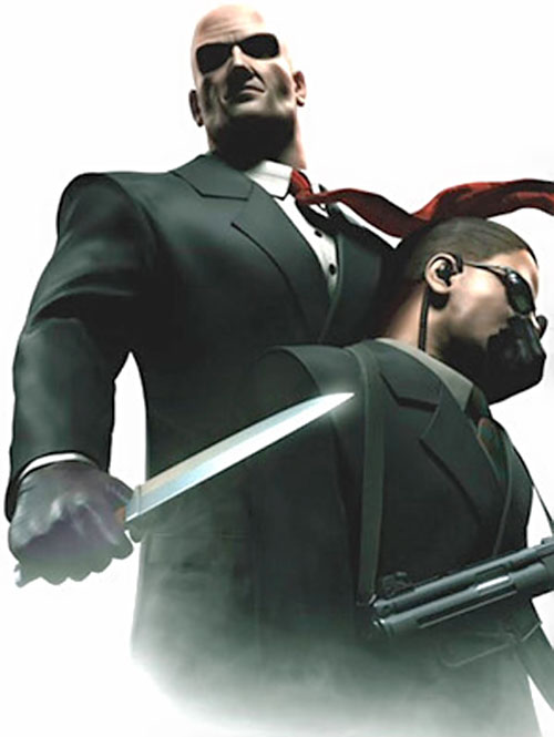 Agent 47 (Hitman) with a knife