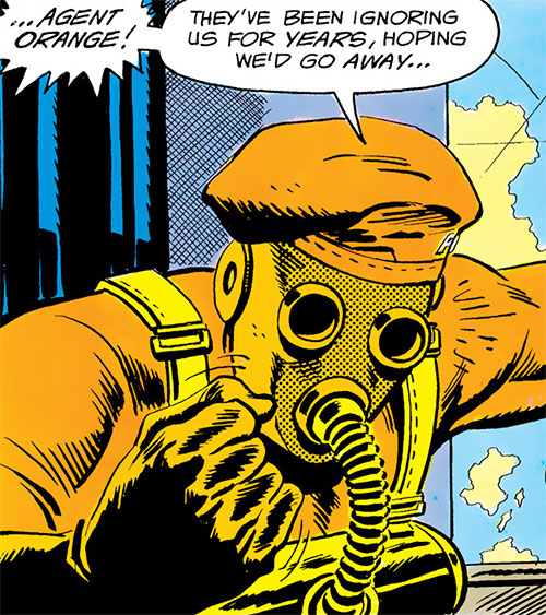 Agent Orange (Batman and the Outsiders) (DC Comics) mask closeup