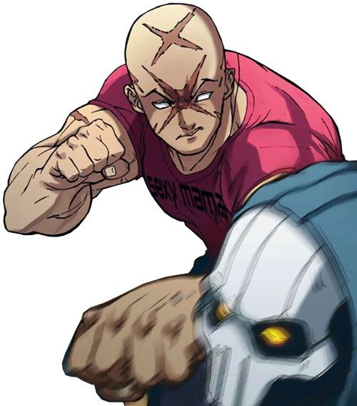 Agent X (Marvel Comics) punching Taskmaster