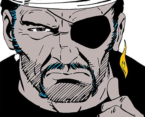 Agni of the Djihad (Suicide Squad enemy) (DC Comics) face closeup