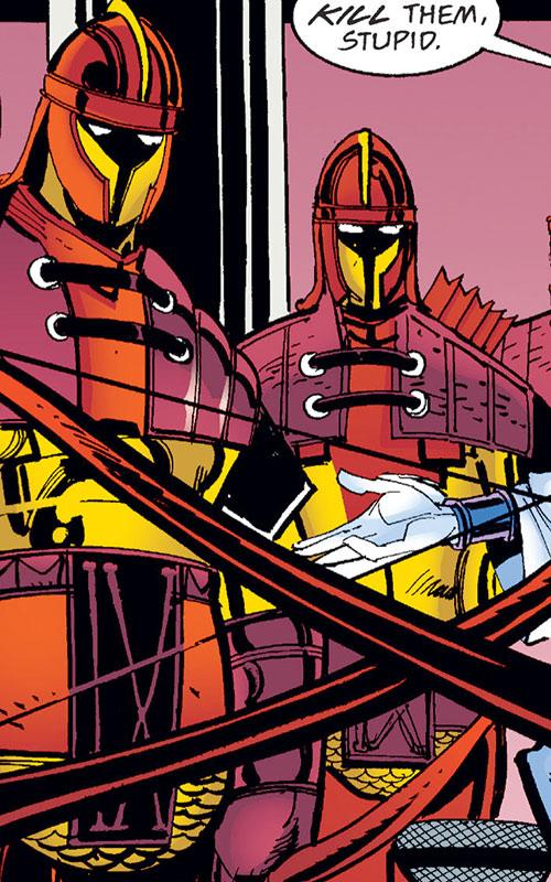Catafracts in armor (modern comic book take)
