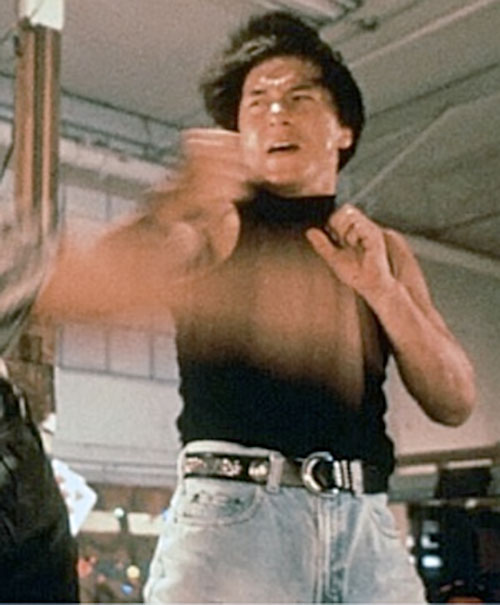 Ah Keung (Jackie Chan in Rumble in the Bronx) rapidly blocking with his forearm