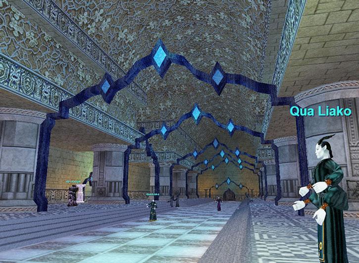 Everquest I - a large corridor in the Akheva city of Vex Thal