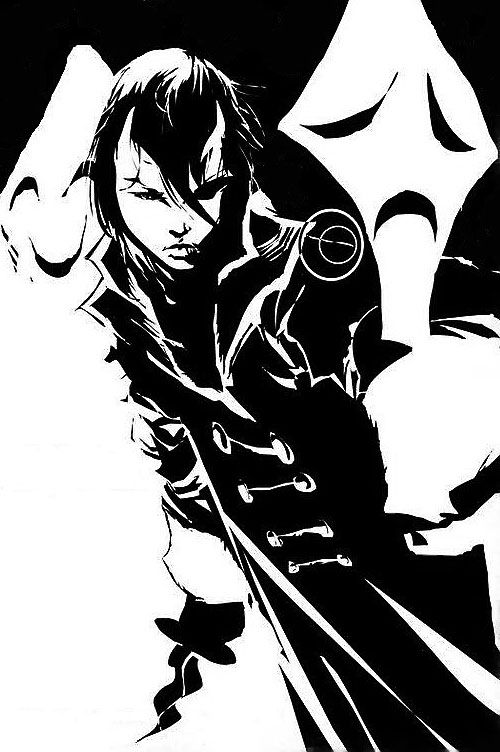 Trese Comics - Alexandra B&W splash page