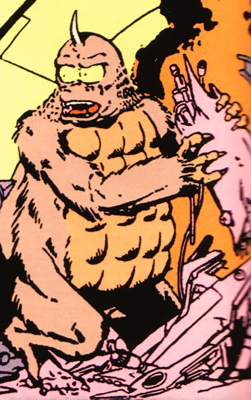 Flasher Beast wrecking stuff (Legion of Super-Heroes) (DC Comics)