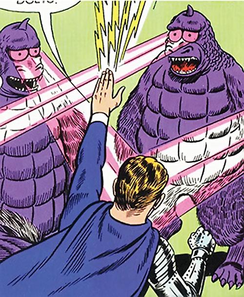Flasher Beasts vs. Lightning Lad (Legion of Super-Heroes) (DC Comics)