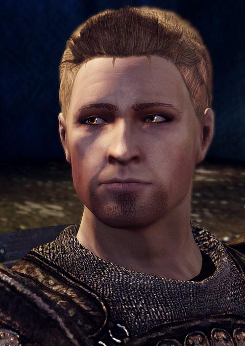 Alistair (Dragon Age: Origins) face closeup