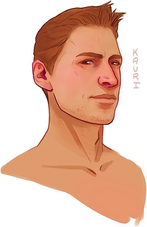 Alistair portrait - Dragon Age - kauriart.tumblr.com