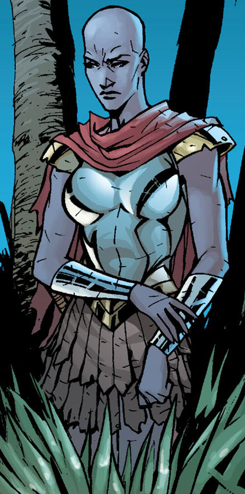 Alkyone (Wonder Woman character) (DC Comics) waiting in a forest