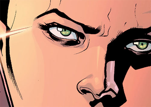 Alkyone (Wonder Woman character) (DC Comics) eyes closeup