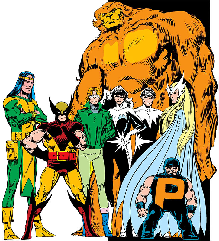 Alpha Flight group shot from an ad