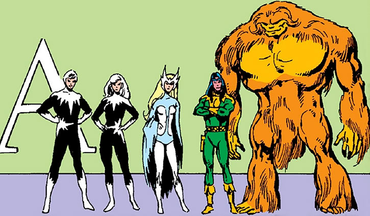 Alpha Flight early roster
