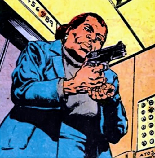 Amanda Waller of the Suicide Squad (DC Comics) reloading a pistol
