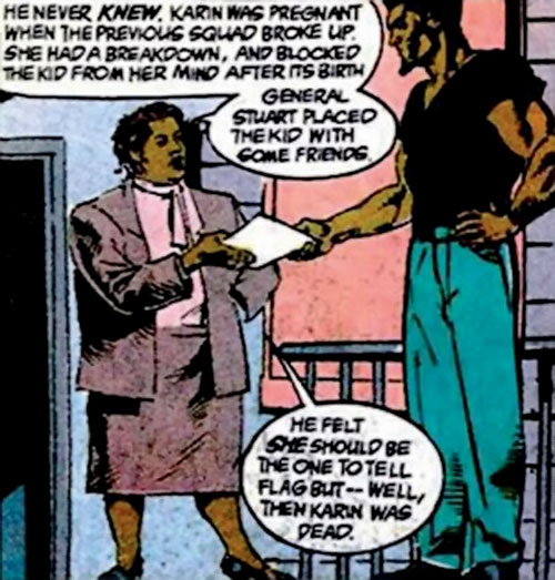 Amanda Waller of the Suicide Squad (DC Comics) and the Bronze Tiger