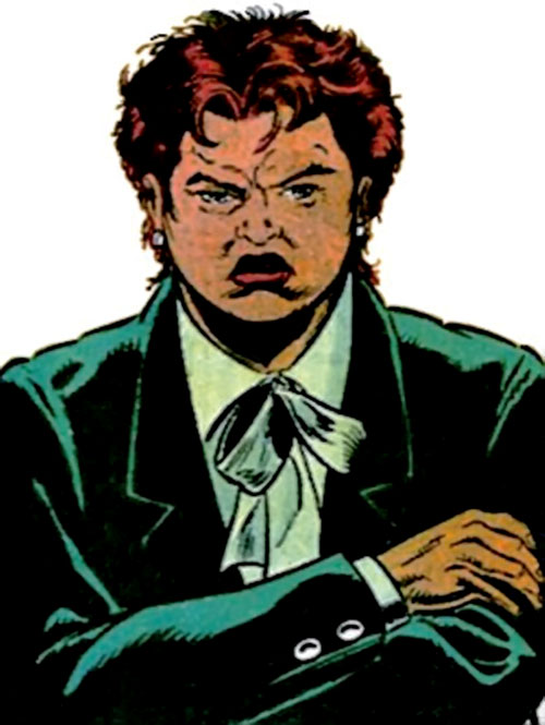 Amanda Waller of the Suicide Squad (DC Comics) in a dark green suit