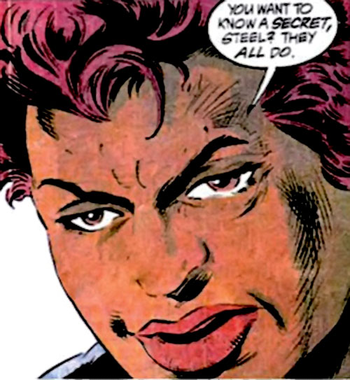 Amanda Waller of the Suicide Squad (DC Comics) looking tired
