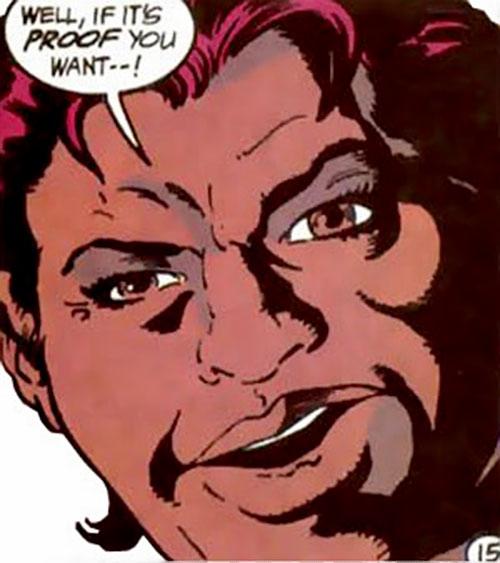Amanda Waller of the Suicide Squad (DC Comics) smirking