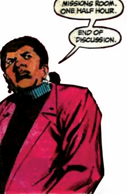 Amanda Waller of the Suicide Squad (DC Comics) giving orders