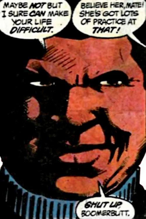 Amanda Waller of the Suicide Squad (DC Comics) threatening