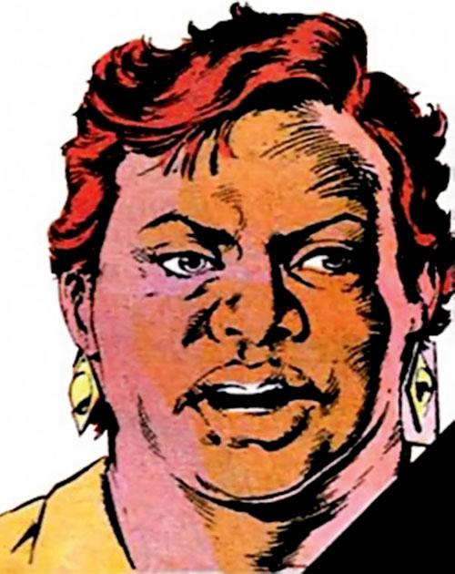 Amanda Waller of the Suicide Squad (DC Comics) face closeup