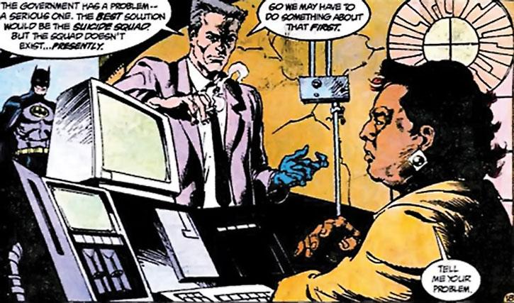 Amanda Waller, Batman and Sarge Steel