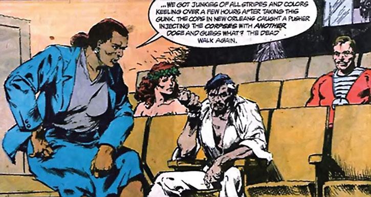 Amanda Waller briefing Poison Ivy, Ravan and Deadshot