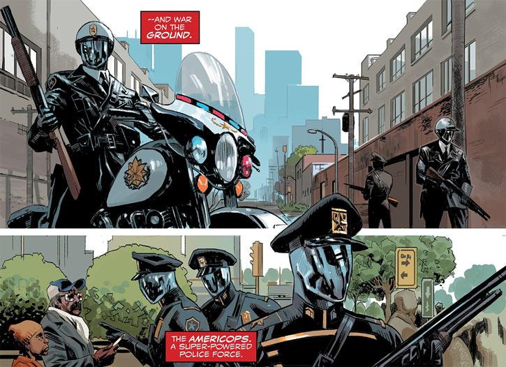 Americop private police force in Captain America - Sam Wilson