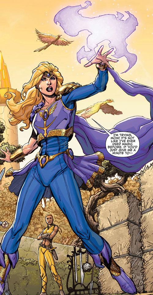Amethyst (DC Comics New52) learning to cast a spell