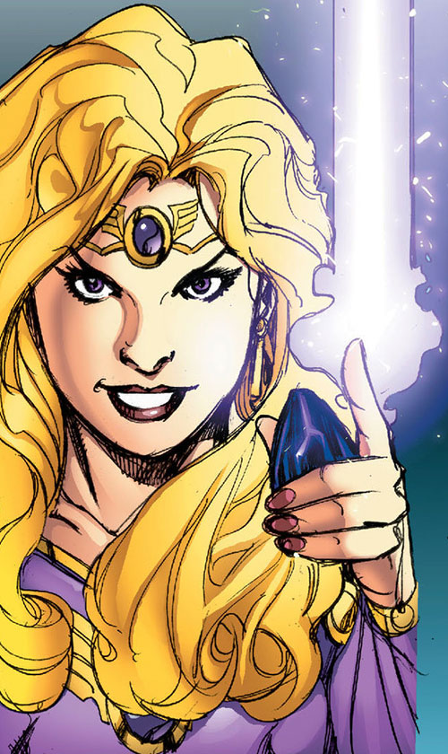 Amethyst (DC Comics New52) smile with Eclipso's diamond