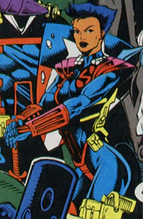 Amy Chen (Silver Sable ally) (Marvel Comics) posing