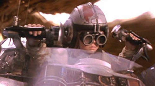 Anakin Skywalker (Jake Lloyd in Star Wars episode 1) piloting