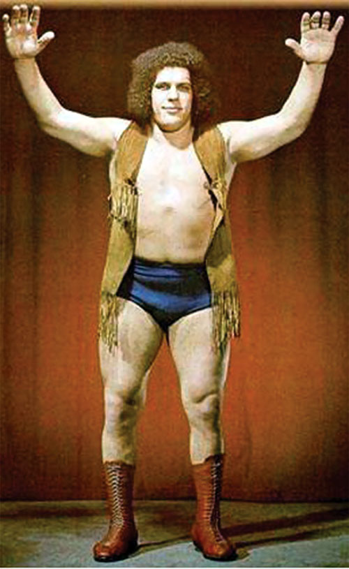 Andre the Giant (wrestler) with a fringed vest