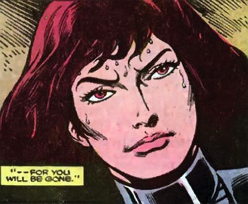 Andromeda Attumasen (Marvel Comics) face closeup with Caucasian skin