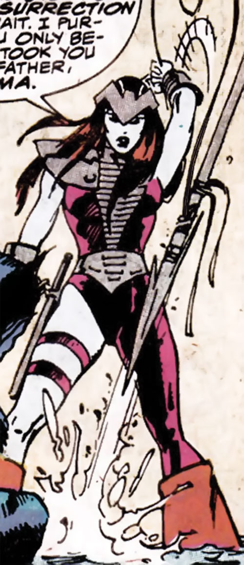 Andromeda Attumasen (Marvel Comics) with a harpoon