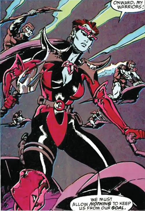 Andromeda Attumasen (Marvel Comics) leading Atlantean troops