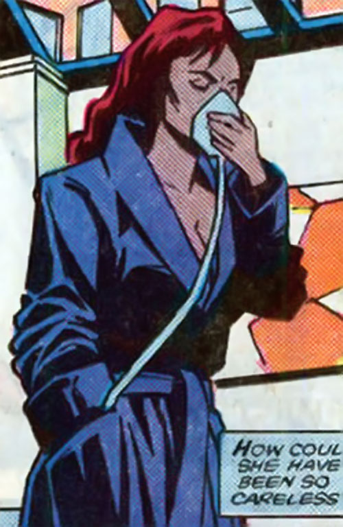 Andromeda Attumasen (Marvel Comics) using a water respirator