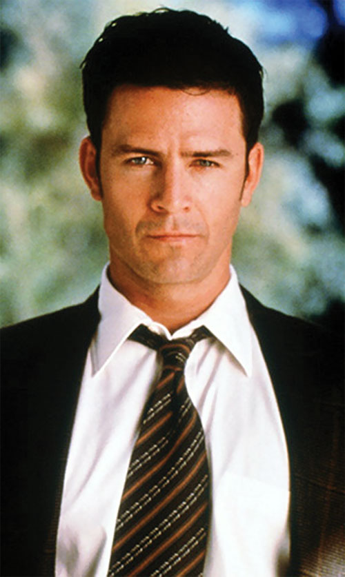 Andy Trudeaux (Ted King in Charmed) brown tie and suit