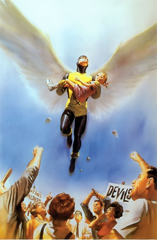 Early Angel of the X-Men from the Marvels comic cover