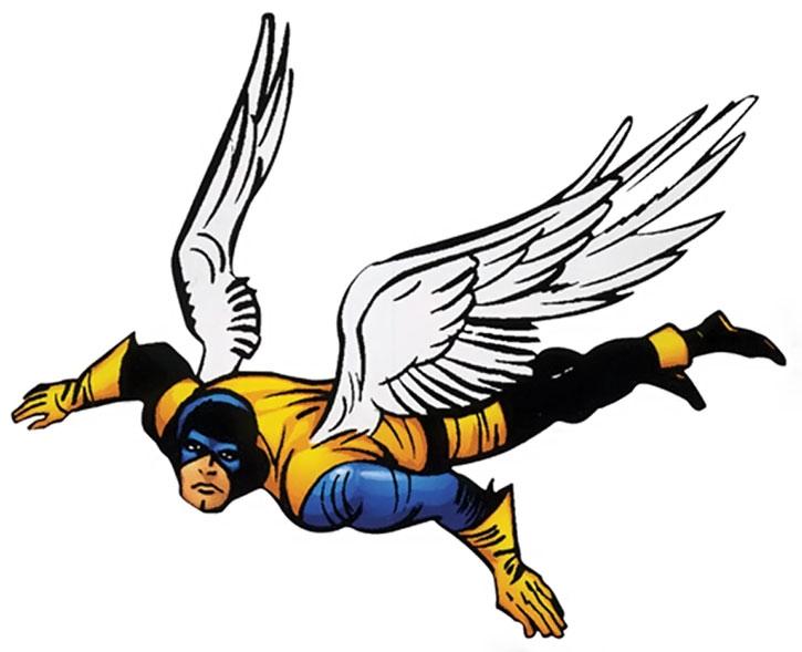 Angel wearing the early X-Men uniform