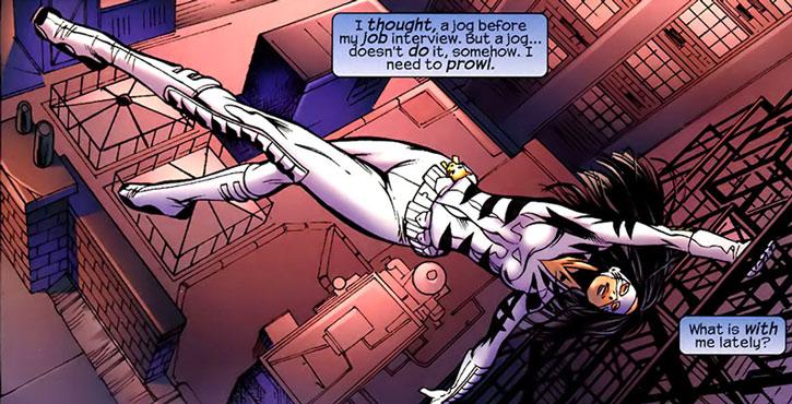 White Tiger doing urban acrobatics