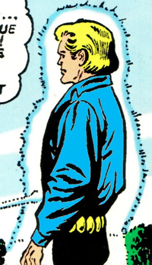 Animal Lad (Legion of Super-Heroes character) (DC Comics) surrounded by a force field