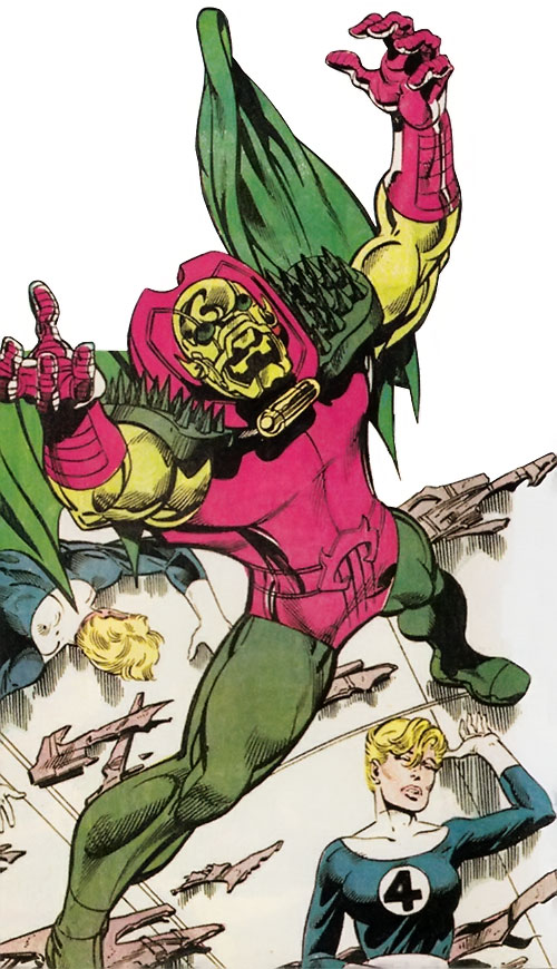 Annihilus (Marvel Comics) has defeated the Fantastic Four