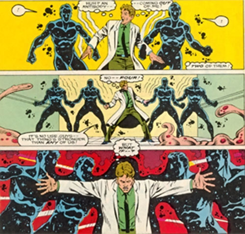 Antibody of DP7 (New Universe Marvel Comics) reabsorbs his antibodies