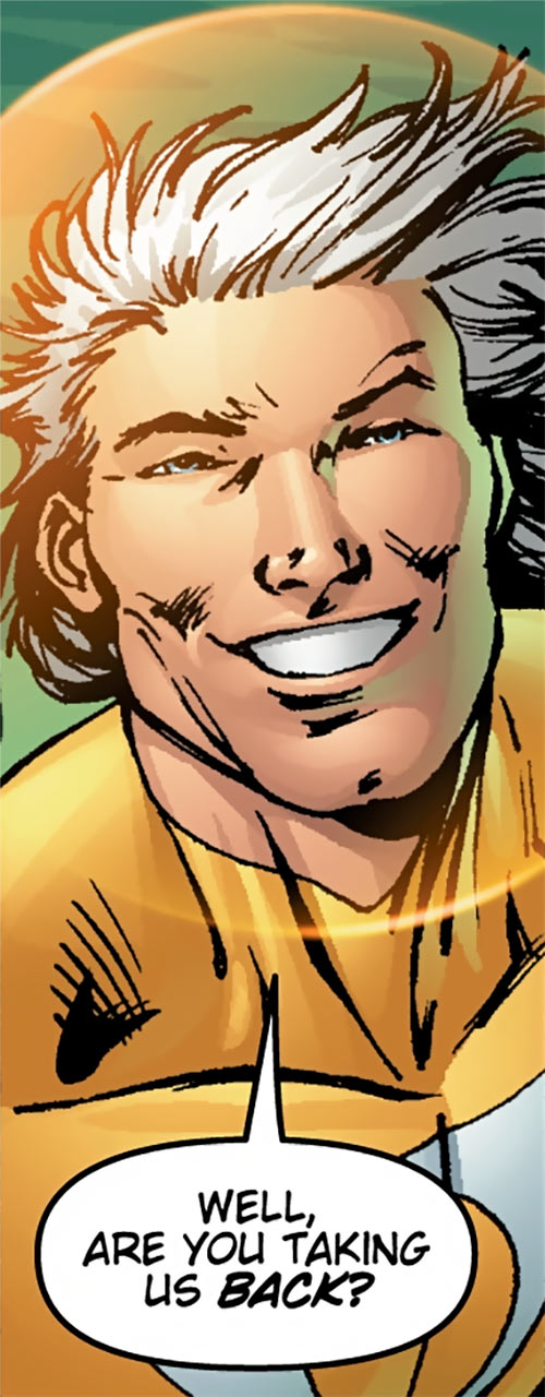 Apollo of the Authority (Wildstorm Comics) smiling face closeup